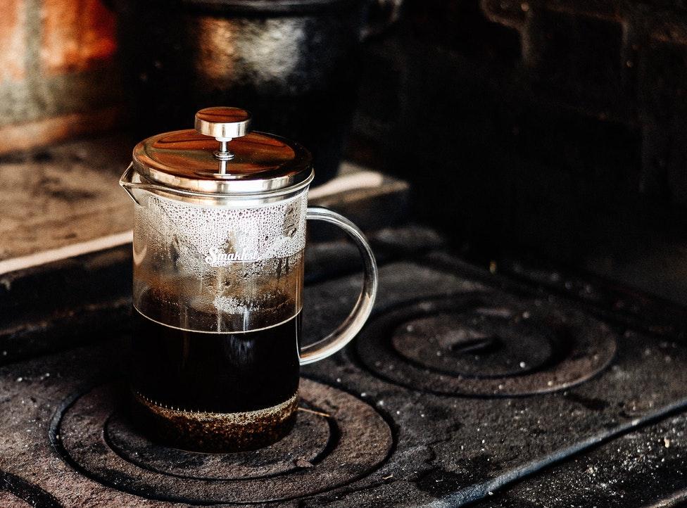 gott kaffe hemma med fransk press